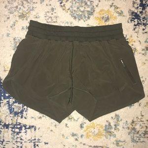 Lululemon Olive Green Gym Shorts Size 6